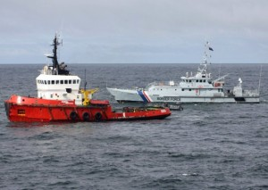 MV Hamal boat is intercepted by Royal Navy
