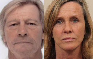 Patrick Adams (left) and wife Constance Adams detained in Amsterdam